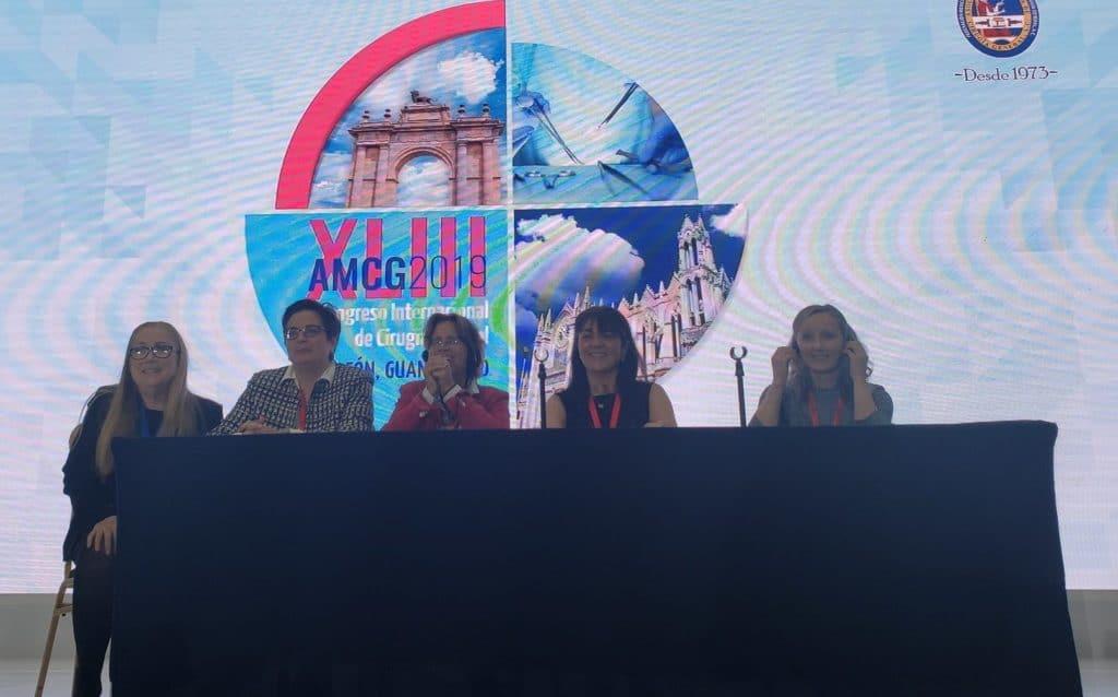 Dra. Delgado mesa de la mujer Congreso Cirugía General de Mexico